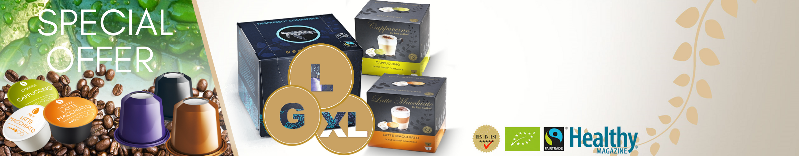 Get up to 30 FREE coffee pods when you order the Large, XL or Giga pack.