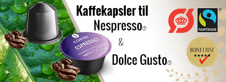 nespressokapsler fra Real Coffee. Politiken best i test vinder
