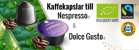 Kaffekapslar till nespresso från real coffee. Gratis leverans.