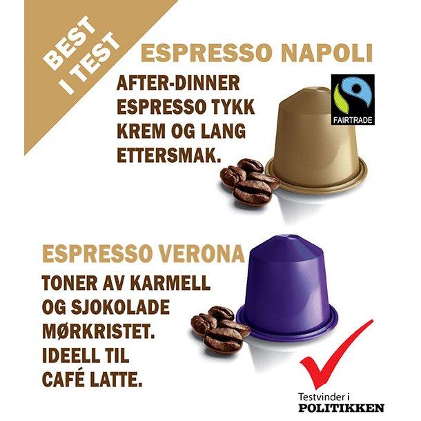 Espresso Napoli, Real Coffee signaturblend.