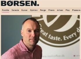 Børsen, artikel om Real Coffee. adm. dir. Lars Mansfeld-Giese
