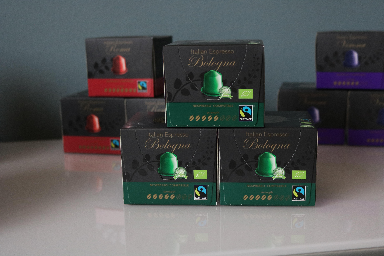 Økologiske kaffekapsler (Bologna) til Nespresso fra Real Coffee