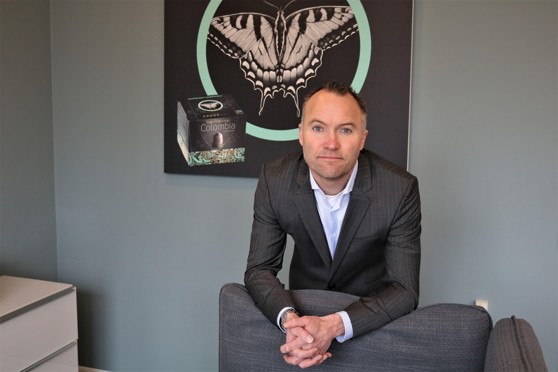 Lars Mansfeld-Giese, direktør Real Coffee, kapsler til Nespresso