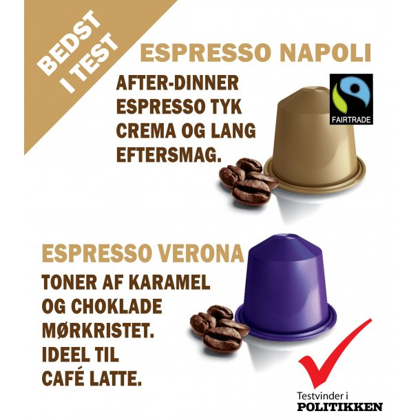 Espresso Napoli, Real Coffee Signature Blend.