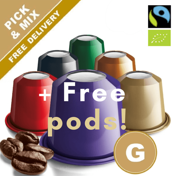 Pick and mix your favorite Nespresso compatible capsules. Many varieties to choose from. Real Coffee