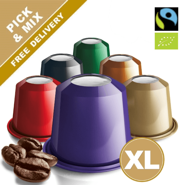 Pick and mix your favorite Nespresso capsules. Many Varieties to choose from. Real Coffee