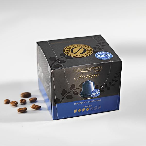 decaf nespresso compatible pods 100 arabica decaf pods. Black Bedroom Furniture Sets. Home Design Ideas